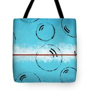 Bubbles Of Energy On A Blue Horizon Tote Bag