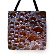 Bubbles Of Steam Cherry Wine Red Tote Bag