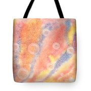 Bubbles Original Abstract Watercolor Tote Bag