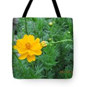 Bud Kissing Flower Tote Bag