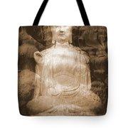 Buddha And Ancient Tree Tote Bag