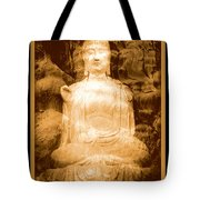 Buddha And Ancient Tree With Border Tote Bag