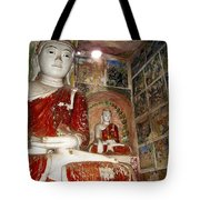 Buddha Image In Po Win Taung Caves. Tote Bag