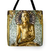 Buddha In Glass Tote Bag