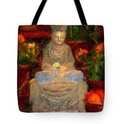 Buddha In Red Tote Bag