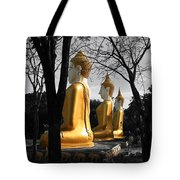 Buddha In The Jungle Tote Bag by Adrian Evans