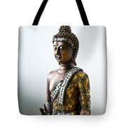 Buddha Statue With A Golden Robe Tote Bag