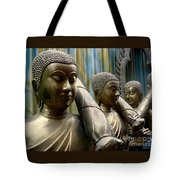 Buddhas With Umbrellas Tote Bag