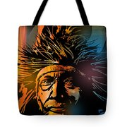Buffalo Headdress Tote Bag