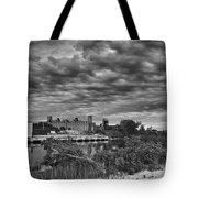 Buffalo Mills Under Clouds Tote Bag
