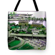 Buffalo New York Waterfront Aerial View Ultraviolet Effect Tote Bag