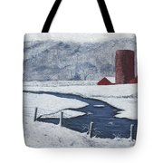 Buffalo River Valley In Snow Tote Bag