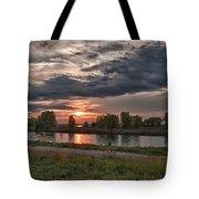 Buffalo Sunset 14390 Tote Bag