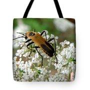 Bug And Flowers Tote Bag