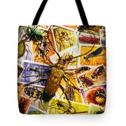 Bugs On Postage Stamps Tote Bag