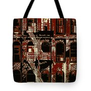 Building Facade In Brown And Red Tote Bag