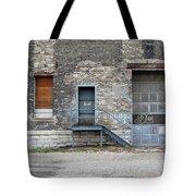Building No.3 Garage Door Tote Bag
