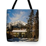Building On A Cold Sunny Day  Tote Bag
