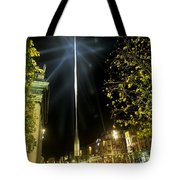 Buildings Lit Up At Night, Oconnell Tote Bag