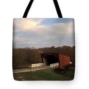Built In 1883 Roseman Bridge Tote Bag