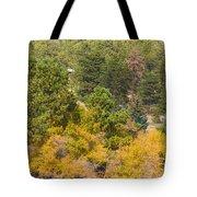 Bull Elk Lake Crusing With Autumn Colors Tote Bag