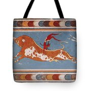 Bull-leaping Fresco From Minoan Culture Tote Bag