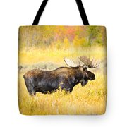Bull Moose In Autumn Tote Bag