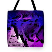Bull On The Move Tote Bag