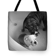 Bulldog Bath Time Tote Bag