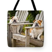 Bulldogs Relaxing At The Beach Tote Bag