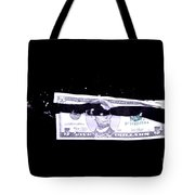 Bullet Hitting A Five Dollar Bill Tote Bag