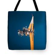 Bullet Hitting A Pencil Tote Bag