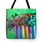 Bullet Hitting Crayons Tote Bag
