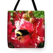 Bumblebee And Snapdragon Tote Bag