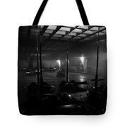 Bumper Cars In Fog Tote Bag