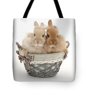Bunnies A Basket Tote Bag