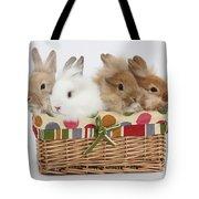 Bunnies In A Basket Tote Bag