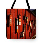Rockport Buoy Wall - Greeting Card Tote Bag