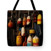 Buoys On Fishing Shack - Greeting Card Tote Bag