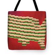 Burger Town Usa Map Red Tote Bag