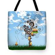 Burger Tree House And The Cupcake Kids  Tote Bag