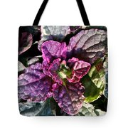 Burgundy Glow Bugleweed Tote Bag