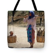 Burman Woman And Son Tote Bag