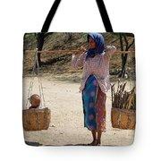Burman Woman And Son Tote Bag