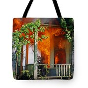 Burning House Tote Bag