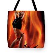 Burning In Flames Tote Bag