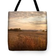 Burning Leaves On The Farm Tote Bag