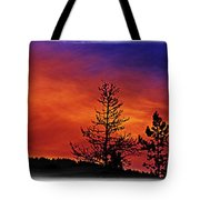 Burning Sunrise Tote Bag