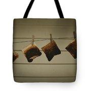 Burnt Toast Hanging On Clothesline Tote Bag