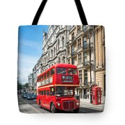Bus On Piccadilly Tote Bag